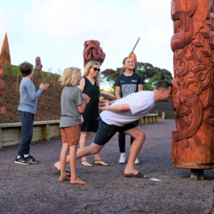 Greet our carvings with the Hongi